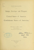 Cover of Catalogue of the stamps, envelopes and wrappers of the United States of American and of the Confederate States of America