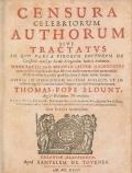 Cover of Censura celebriorum authorum