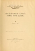 Cover of Certain mounds in Haywood County, North Carolina