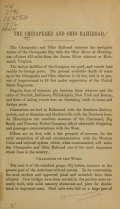 Cover of The Chesapeake and Ohio Railroad