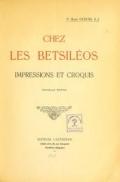 Cover of Chez les Betsiléos  impressions et croquis