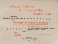 "Cover of ""Chicago Tribune glimpses of the World's fair"""