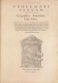 Cover of Claudii Ptolemaei Alexandrini GeographicA enarrationis libri octo