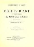 """Cover of """"Collection J. Garie, objets d'art et peintures du Japon et de la Chine"""""""