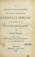 Cover of A collection of hymns