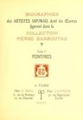 Cover of Collection P. Barboutau Peintures-estampes & Objets d'Art du Japon dont la vente aura lieu le 3 juin et jours suivants, a l'Hotel Drouot, Salle N8