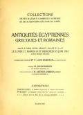 """Cover of """"Collections de feu M. Jean P. Lambros d'Athenes et de M. Giovanni Dattari du Caire."""""""