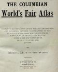 Cover of The Columbian World's Fair atlas