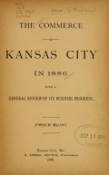 Cover of The commerce of Kansas City in 1886