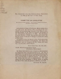 "Cover of ""Committee on Legislation"""