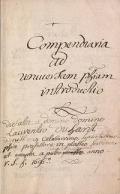 Cover of Compendiaria ad universam philosophiam introductio