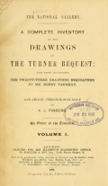 Cover of A complete inventory of the drawings of the Turner bequest