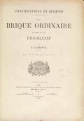 Cover of Constructions en briques