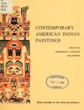 Cover of Contemporary American Indian paintings from the Margretta S. Dietrich collection