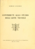 Cover of Contributi allo studio dell'arte tessile