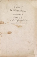 Cover of Cours de magnetisme