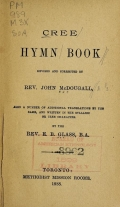 Cover of Cree hymn book