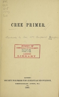 Cover of Cree primer