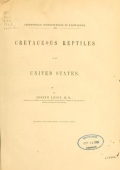 Cover of Cretaceous reptiles of the United States