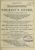 Cover of Crofutt's trans-continental tourist's guide