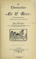 Cover of The curiosities of ale and beer