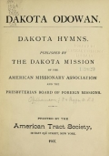 Cover of Dakota odowan