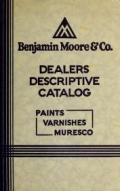 Cover of Dealers descriptive catalog- paints, varnishes, muresc