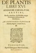 """Cover of """"De plantis libri XVI"""""""