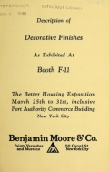 Cover of Description of decorative finishe