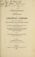 Cover of A description of a new instrument or celestial compass