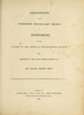 Cover of Descriptions of the inferior maxillary bones of mastodons