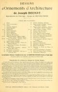 Cover of Dessins d'ornements d'architecture de Joseph Beunat