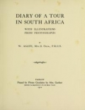 Cover of Diary of a tour in South Africa