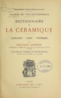 Cover of Dictionnaire de la céramique