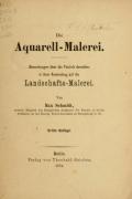 Cover of Die Aquarell-Malerei