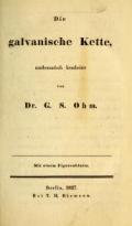 Cover of Die galvanische Kette
