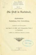 Cover of Die Post in Karlsbad