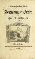 Cover of D. Johann Christian Daniel Schrebers Beschreibung der Gralser