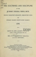 Cover of The doctrines and discipline of the Methodist Episcopal Church, South -