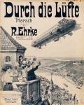 Durch die Lüfte : Marsch / komponiert von R. Ehrke