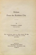 Cover of Echoes from the rainbow city