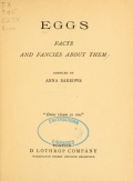Cover of Eggs: facts and fancies about them