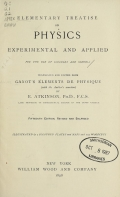 Cover of Elementary treatise on physics, experimental and applied, for the use of colleges and schools