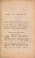 Cover of Elements of vector analysis
