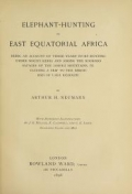 "Cover of ""Elephant-hunting in East Equatorial Africa"""