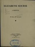 Cover of Elizabeth Nourse, a sketch