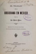 Cover of El trabajo de la obsidiana en México