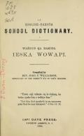Cover of An English-Dakota school dictionary