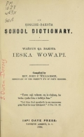 Cover of An English-Dakota school dictionary
