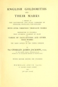 Cover of English goldsmiths and their marks